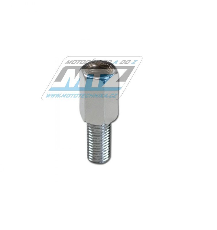 Adaptér zrcátka 10mm Levý závit vnější / 10mm Pravý závit vnitřní (barva stříbrná)