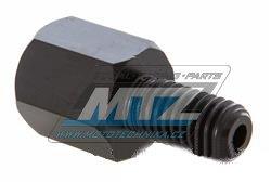 Adaptér zrcátka 10mm Pravý závit vnější / 10mm Levý závit vnitřní (barva černá)