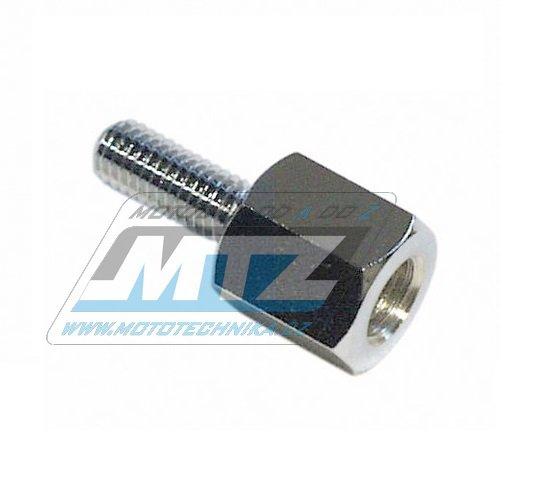 Adaptér zrcátka 10mm Pravý závit vnější / 8mm Pravý závit vnitřní (barva stříbrná/chrom)