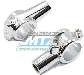 Držák zrcátka kompletní - M10 Pravý závit (barva stříbrná/chrom)