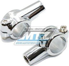 Držák zrcátka kompletní - M10 Levý závit (barva stříbrná/chrom)