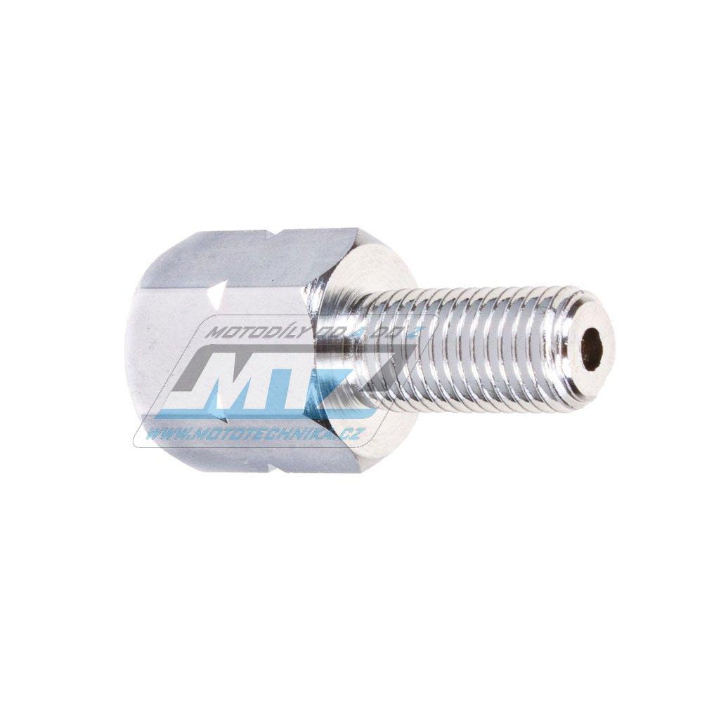 Adaptér zrcátka 10mm Pravý závit vnější / 8mm Levý závit vnitřní (barva stříbrná/chrom)