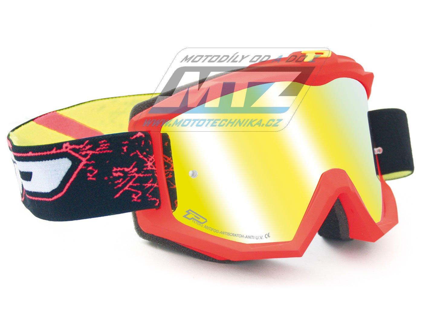 Brýle Progrip 3204-FLUO červené