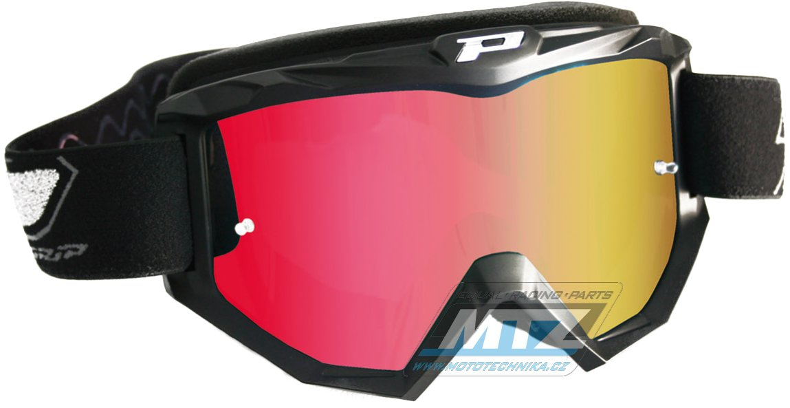 Brýle Progrip 3204 - zrcadlové červené