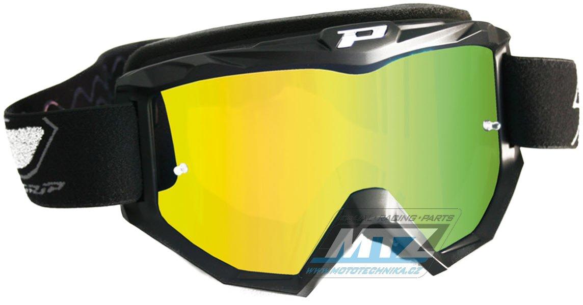 Brýle Progrip 3204 - zrcadlové žluté