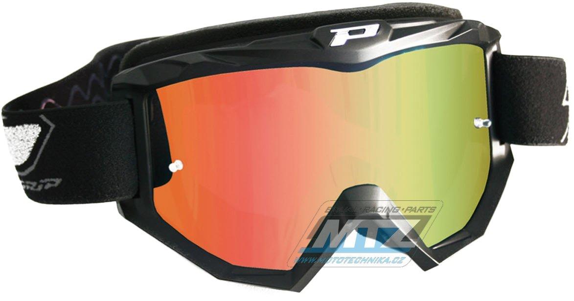 Brýle Progrip 3204 - zrcadlové oranžové