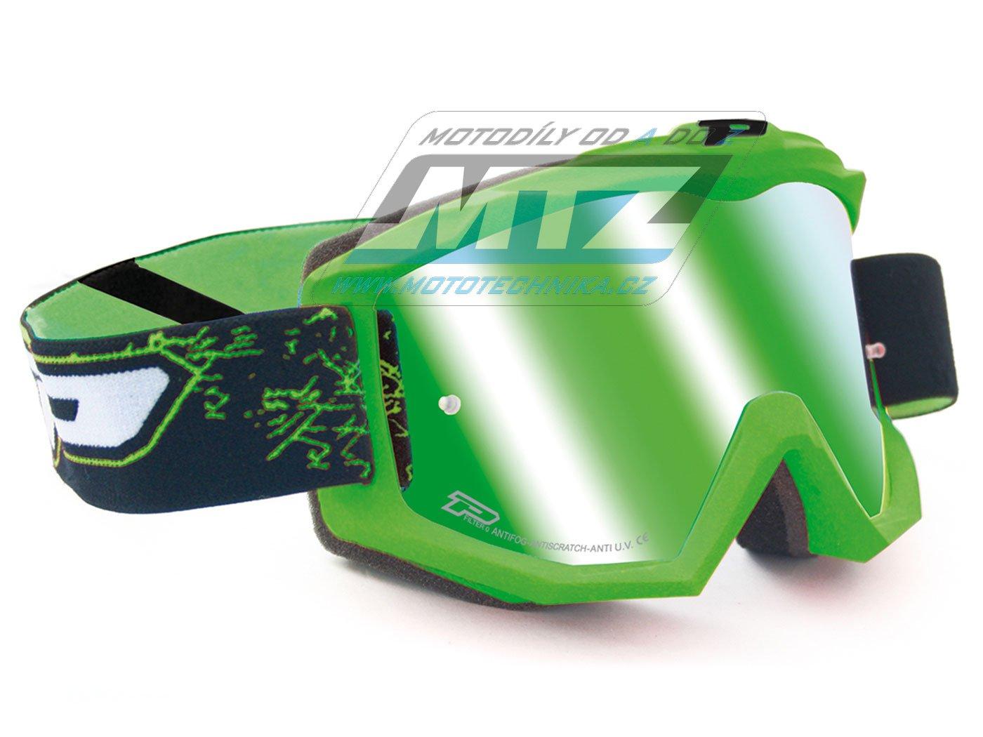 Brýle Progrip 3204-FLUO zelené