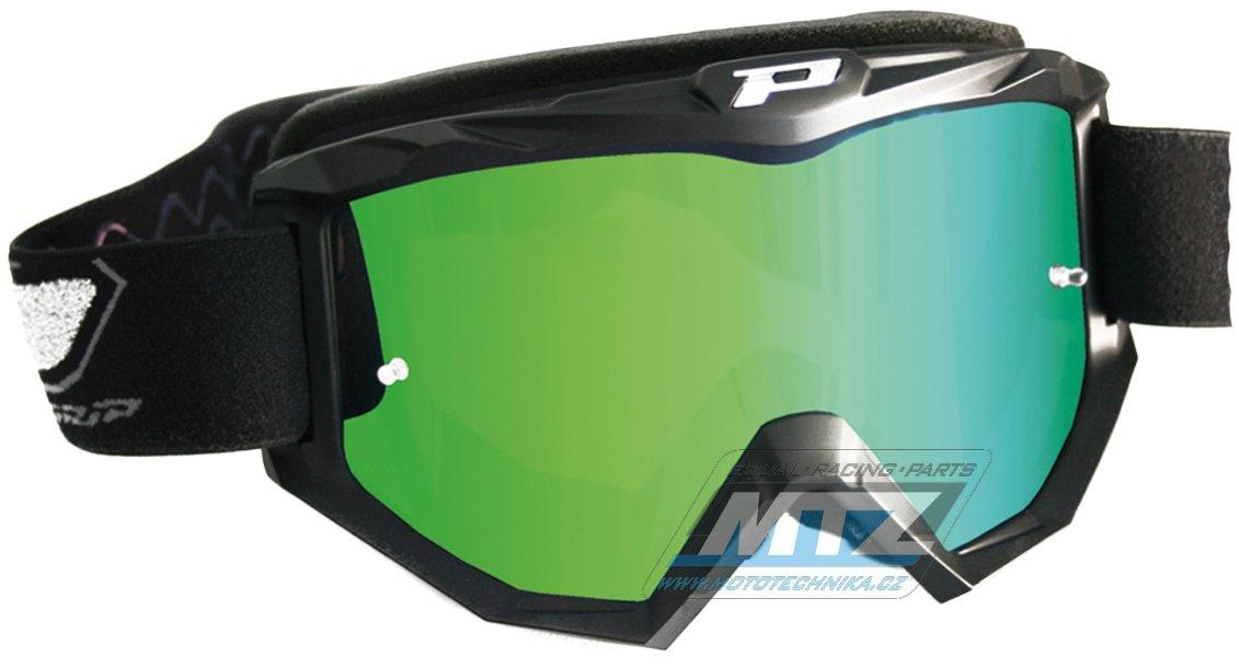 Brýle Progrip 3204 - zrcadlové zelené