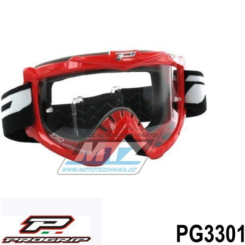 Brýle Progrip 3301 - červené