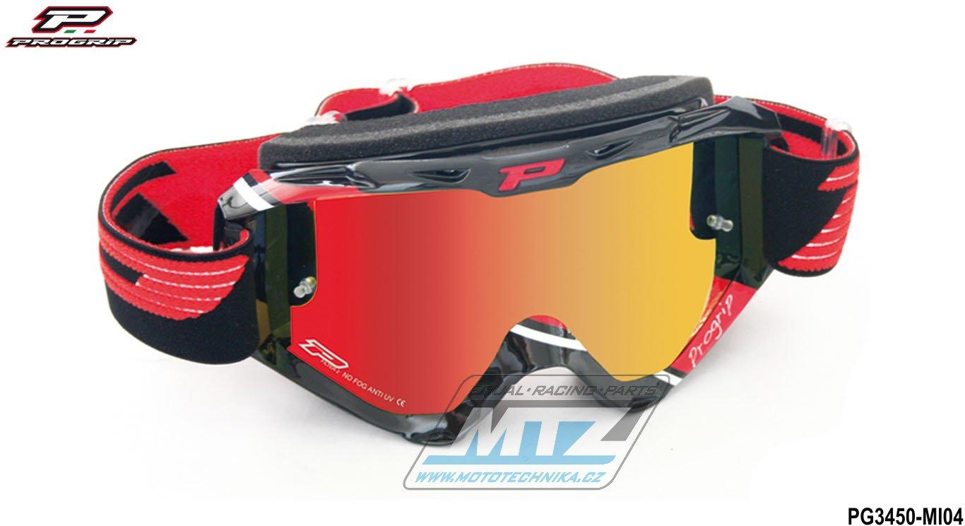 Brýle Progrip 3450 - zrcadlové červené