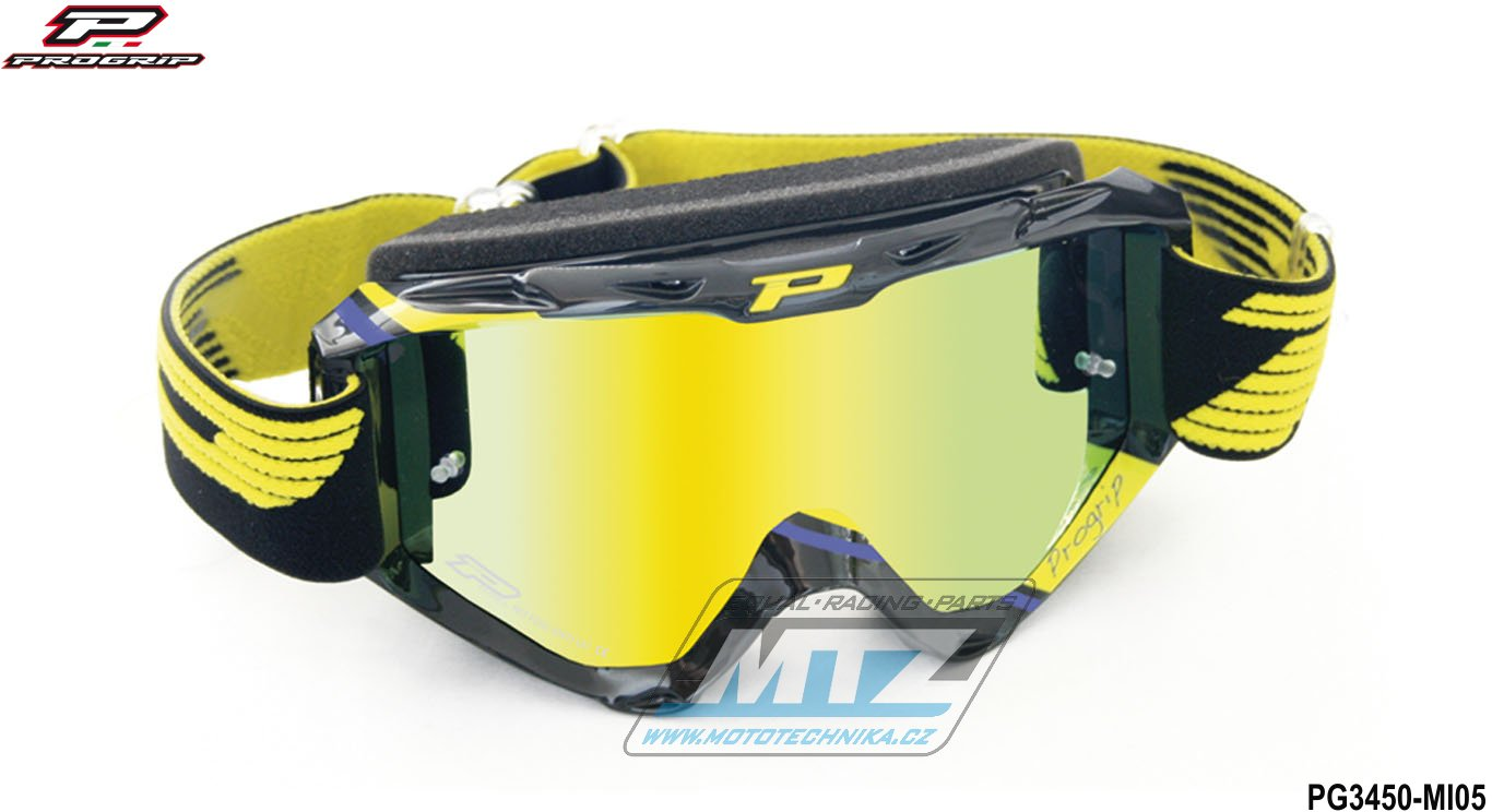 Brýle Progrip 3450 - zrcadlové žluté