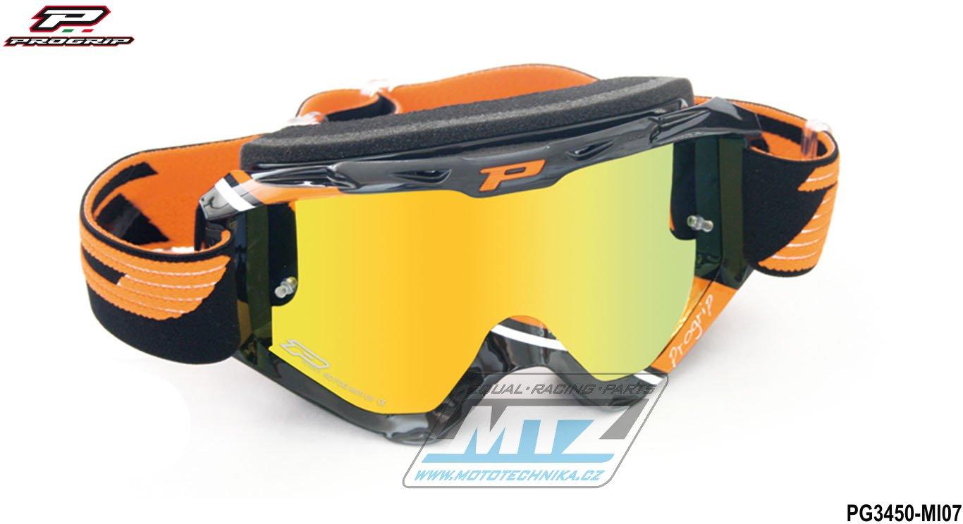 Brýle Progrip 3450 - zrcadlové oranžové