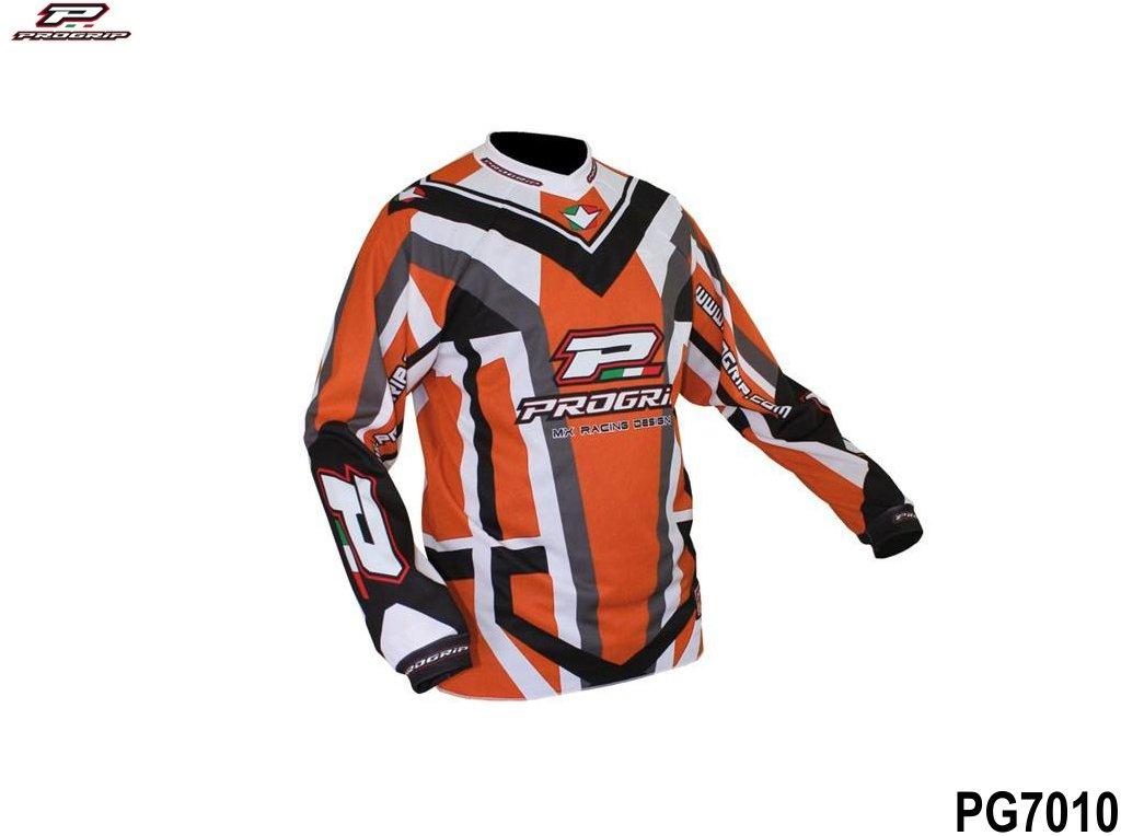 Dres jezdecký Progrip 7010/11 oranžový