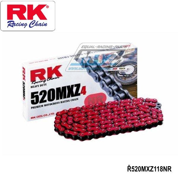 Farebná závodná reťaz RK 520 MXZ4 (118čl) červená