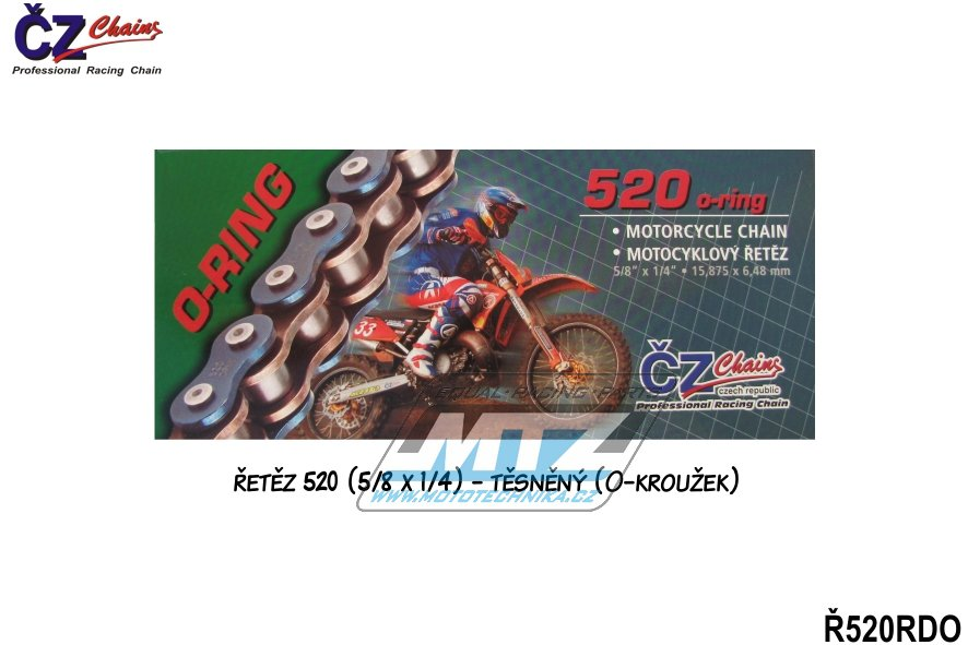 Řetěz ČZ 520 RDO (118čl)