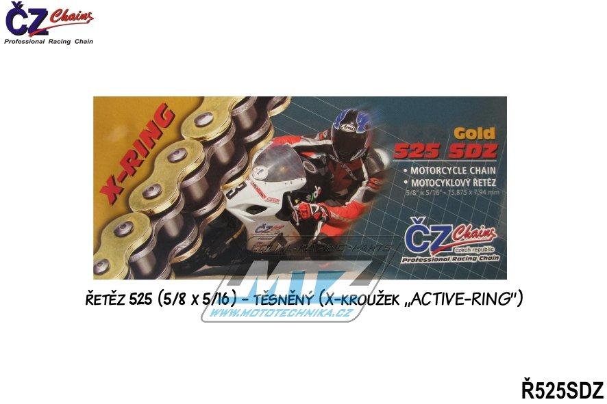 Řetěz ČZ 525 SDZ (120čl) zlatý