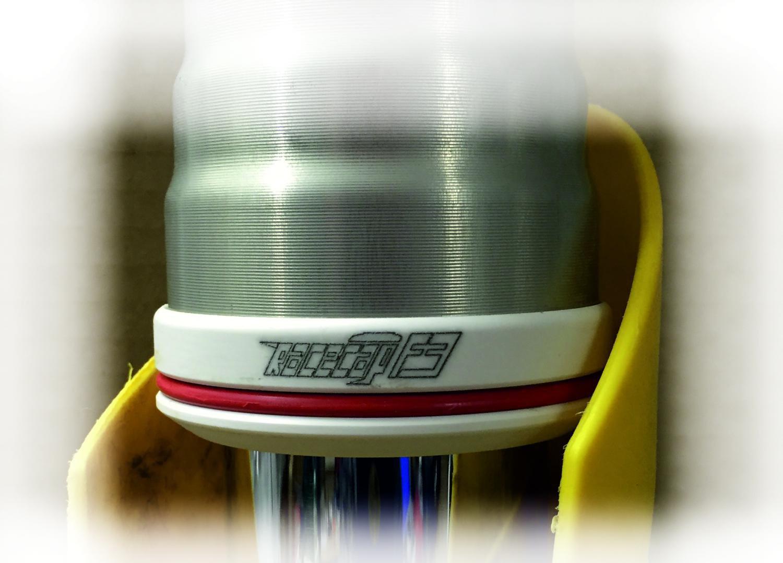 Sada předních vidlic RACECAP F3 pro vidlice White Power 48mm - KTM + Husaberg + Husqvarna - bílo-červené