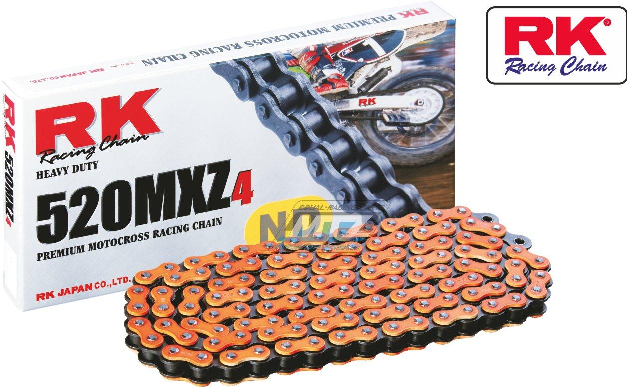 Řetěz RK 520 MXZ4 (118čl) oranžový