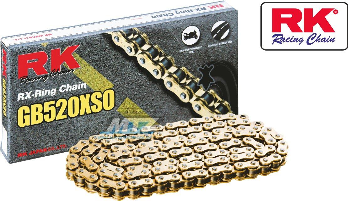 Řetěz RK 520 XSO-Z1 (118čl) zlatý