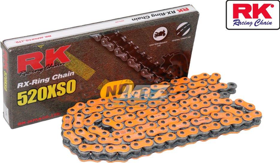 Řetěz RK 520 XSO-Z1 (118čl) oranžový