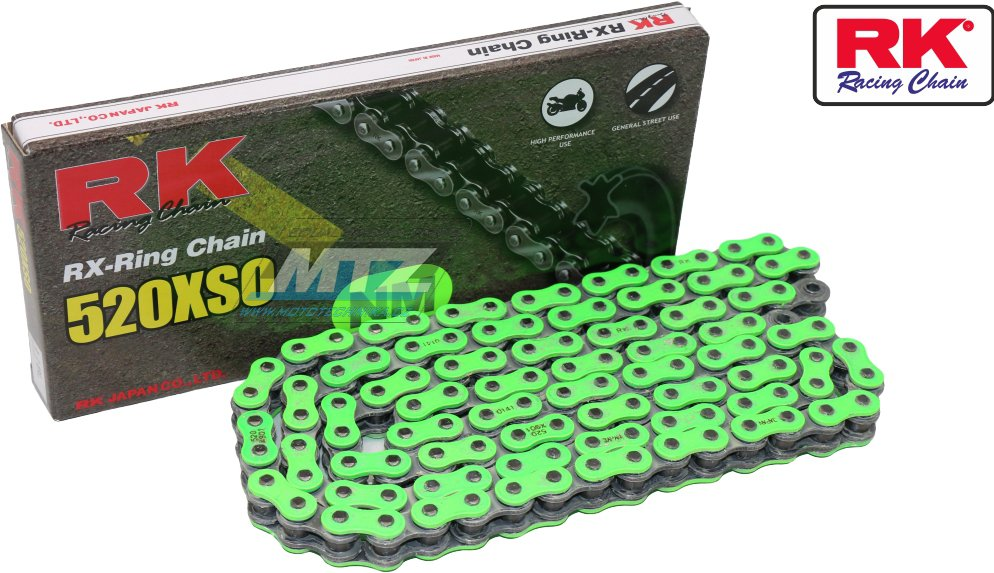 Řetěz RK 520 XSO-Z1 (118čl) zelený