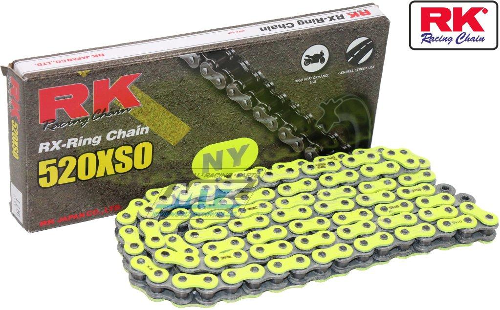 Řetěz RK 520 XSO-Z1 (118čl) žlutý