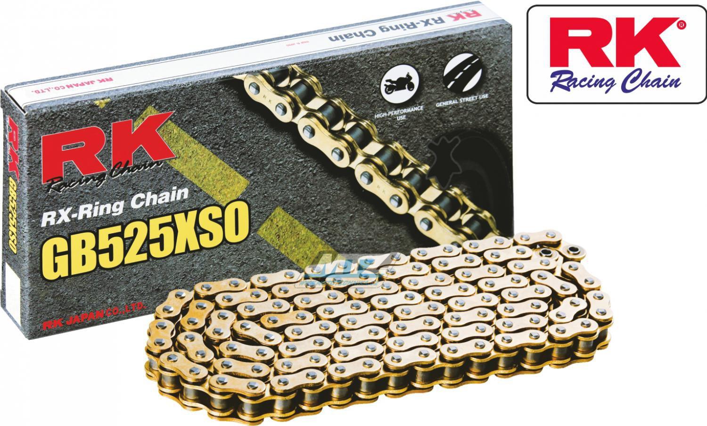 Řetěz RK 525 XSO (124čl) zlatý