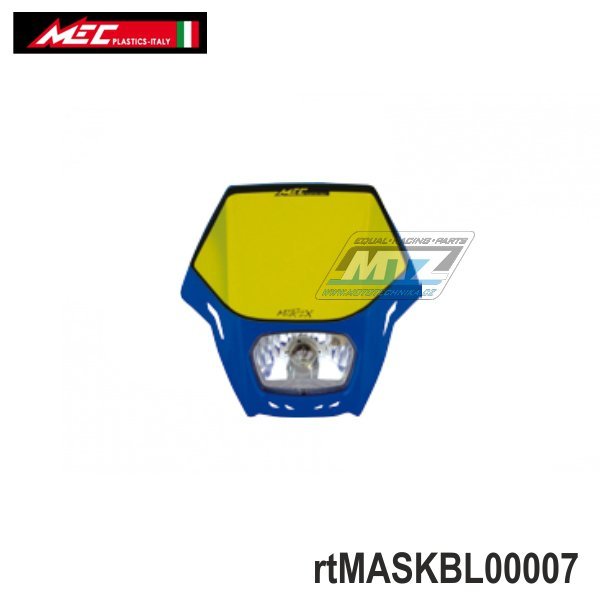 Maska přední se světlem Matrix - modrá