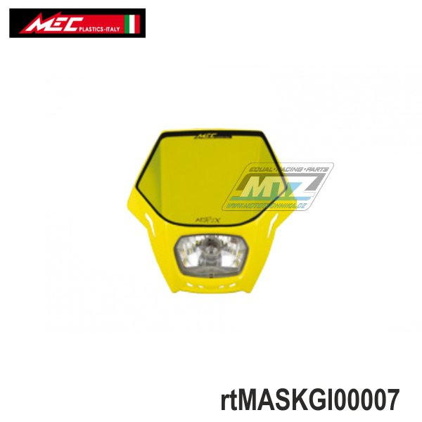 Maska přední se světlem Matrix - žlutá