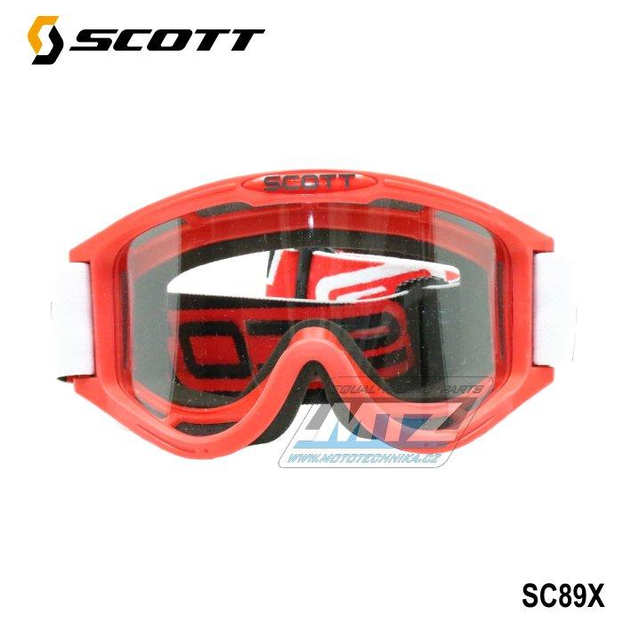 Brýle Scott 89X červené