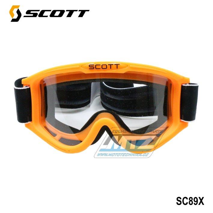 Brýle Scott 89X oranžové