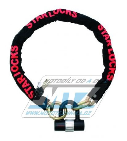 Zámek řetězový Chain-Padlock (oka 10mm / délka 1m)