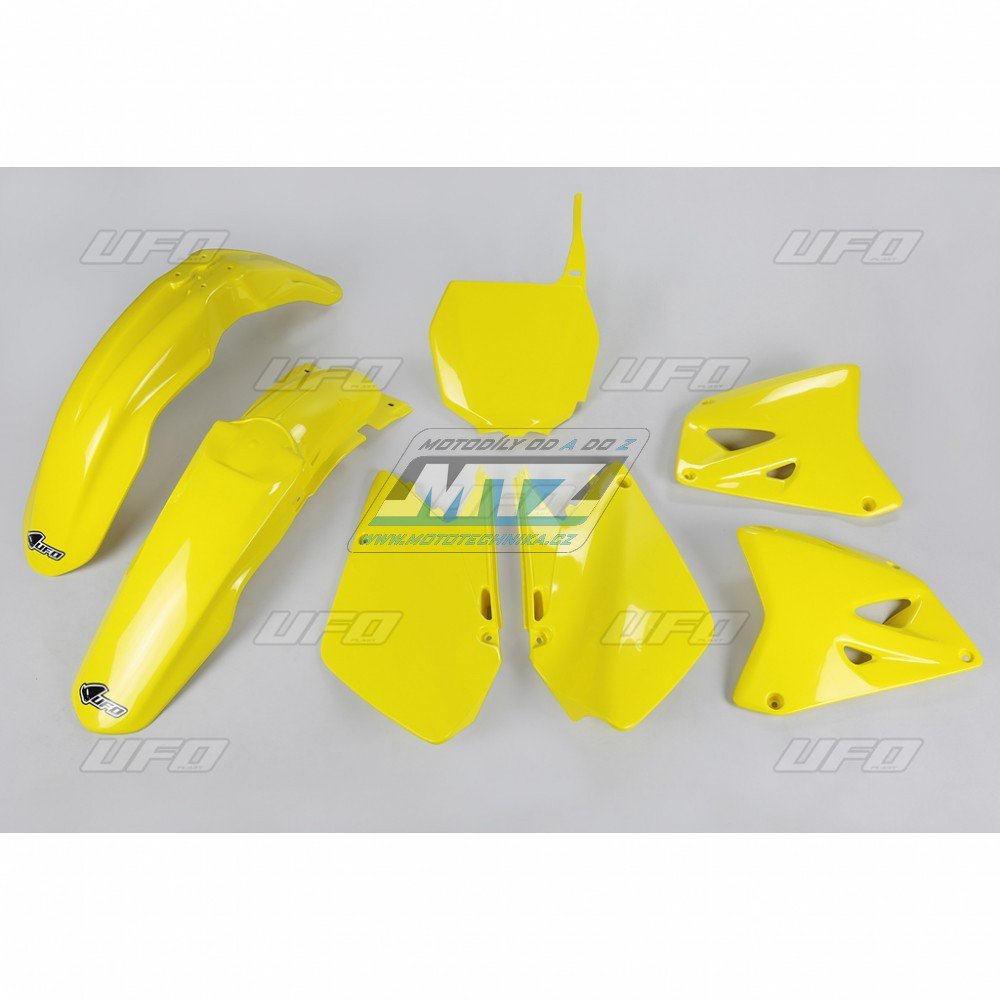 Sada plastů Suzuki - RM125+250 / 01-02 - žlutá