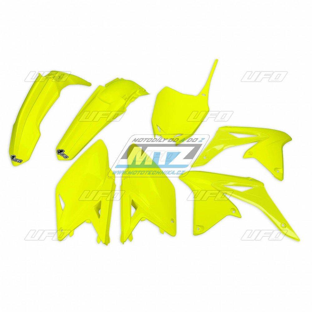 Sada plastů Suzuki - RMZ250 / 14-18 - žlutá FLUO