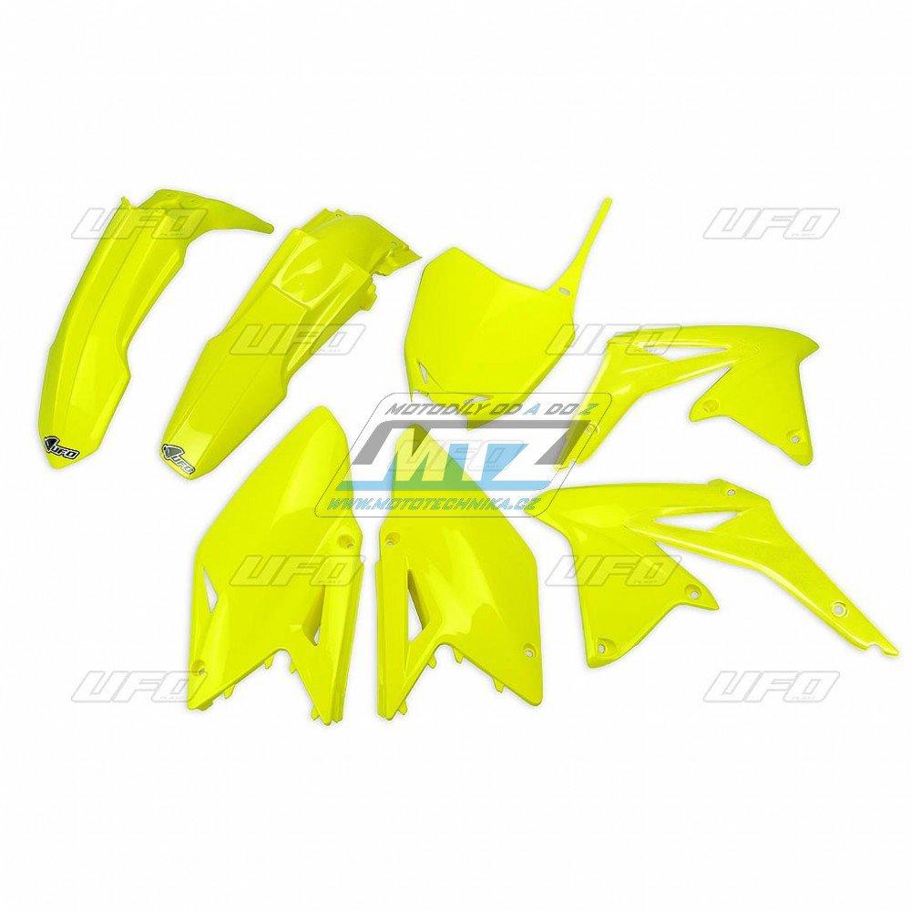 Sada plastů Suzuki - RMZ450 / 14-17 - FLUO žlutá
