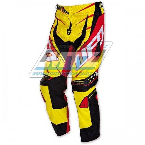 Kalhoty jezdecké Ufo Voltage žluto-červené (velikost 36)