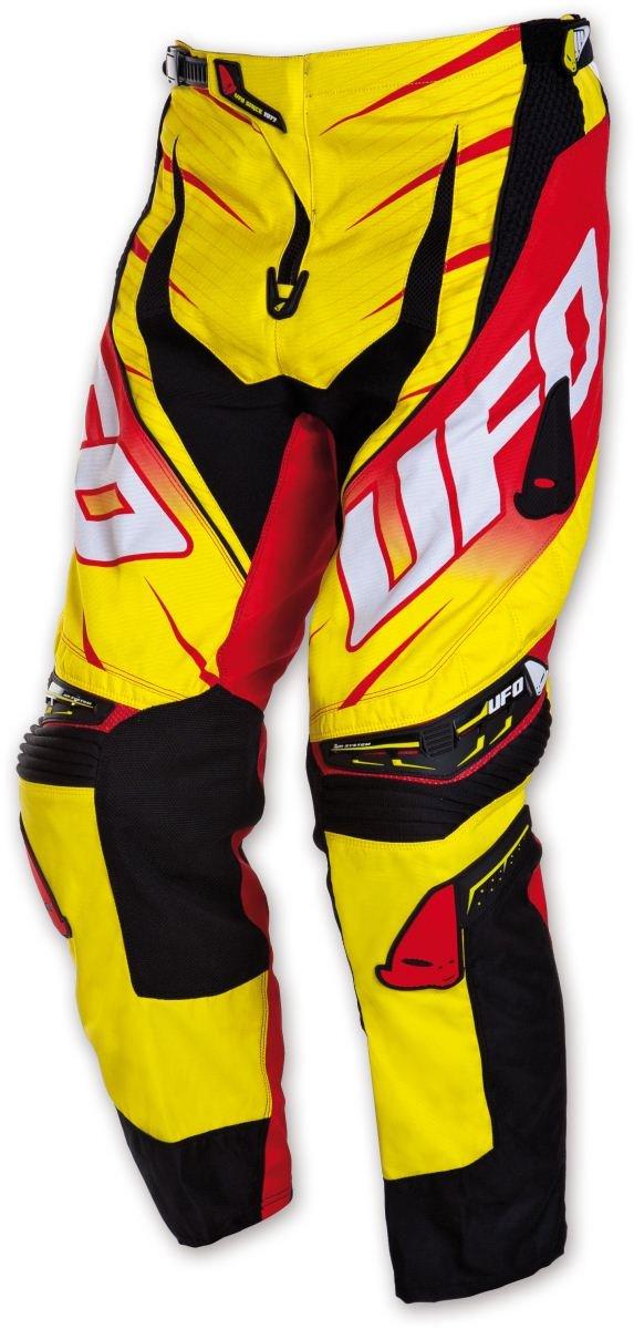 Kalhoty jezdecké Ufo Voltage žluto-červené (velikost 40)