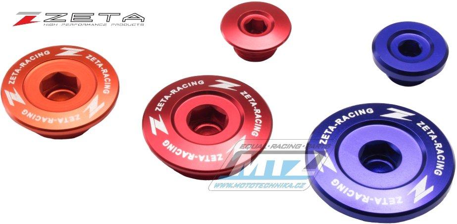 Zátky motora ZETA červené Honda crf 250 04-09