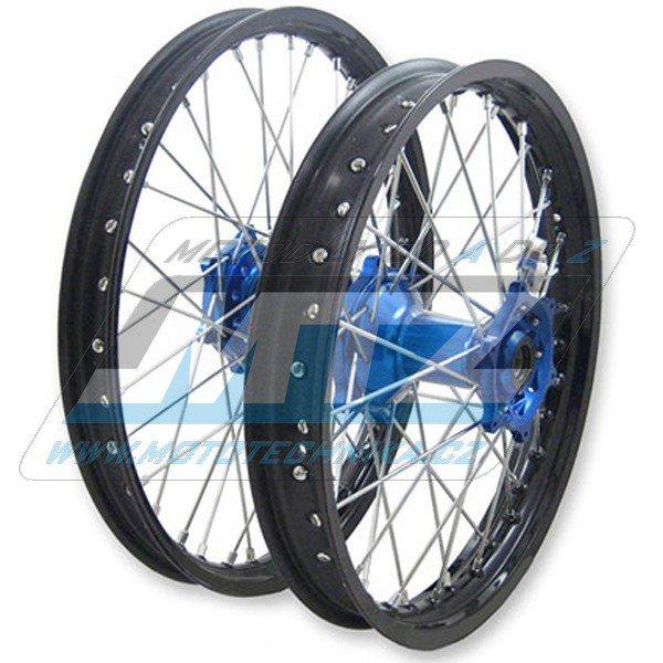 """Kolo kompletní přední 1,60x21"""" (modrý náboj / černý ráfek) - Yamaha YZ125+YZ250+YZF250+YZF450+YZF426+YZF400"""