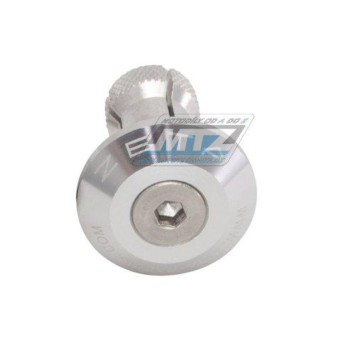 Koncovky/závaží řidítek Zeta Classic - stříbrné (pro vnitřní průměr řidítek ¤13/¤17mm)