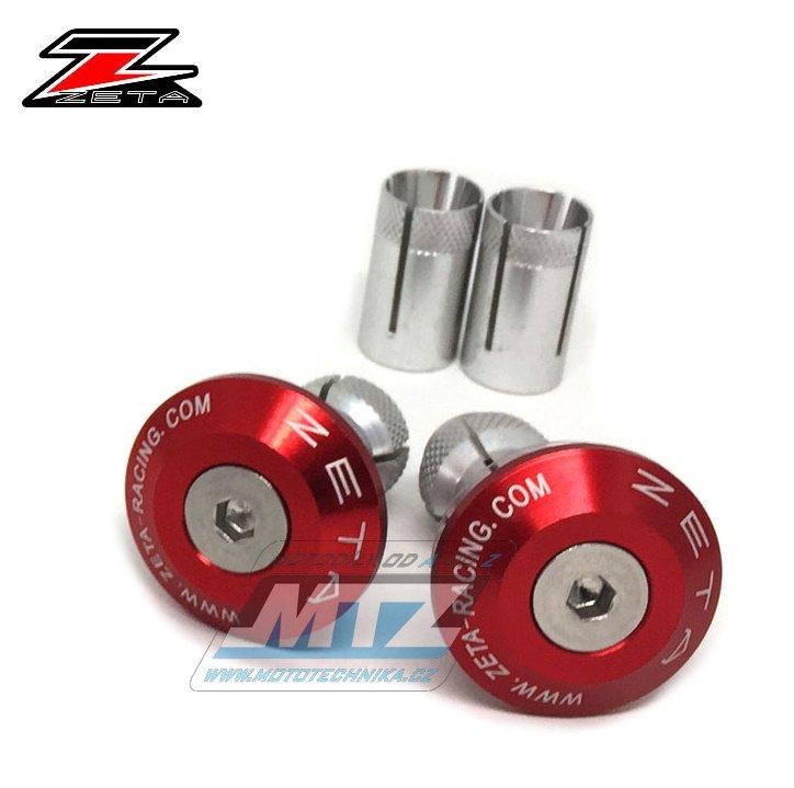Koncovky/závaží řidítek Zeta Classic - červené (pro vnitřní průměr řidítek ¤13/¤17mm)