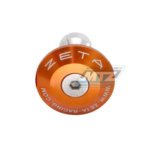 Koncovky/závaží řidítek Zeta Classic - oranžové (pro vnitřní průměr řidítek ¤13/¤17mm)