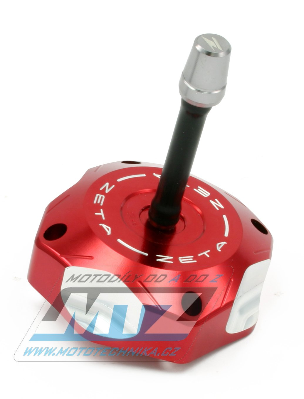 Víčko nádrže Zeta - Kawasaki KX65+KX85 + KX125 + KXF250 + KLX110 + Suzuki RMZ250 + Honda CR125+CR250+CRF50F+CRF125F - červené
