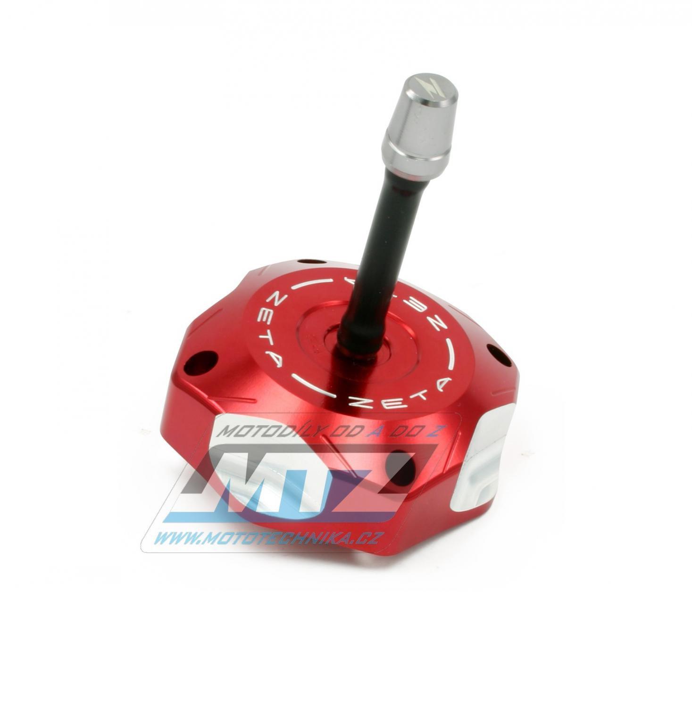 Víčko nádrže ZETA - Suzuki RMZ250 / 07-09 + LTR450 + LTZ400 + Husqvarna CR125+CR250+WR125+WR250+WR300 / 08-13 + TC250 / 09-13 + TE250 / 09-13 + TC450+TE450+TC510+TE510 - červené