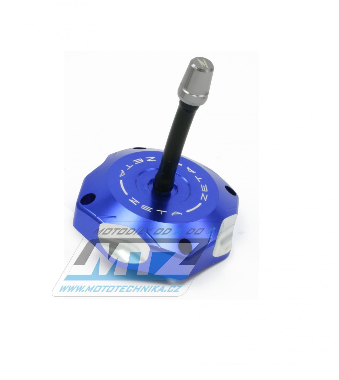 Víčko nádrže ZETA - Suzuki RMZ250 / 07-09 + LTR450 + LTZ400 + Husqvarna CR125+CR250+WR125+WR250+WR300 / 08-13 + TC250 / 09-13 + TE250 / 09-13 + TC450+TE450+TC510+TE510 - modré