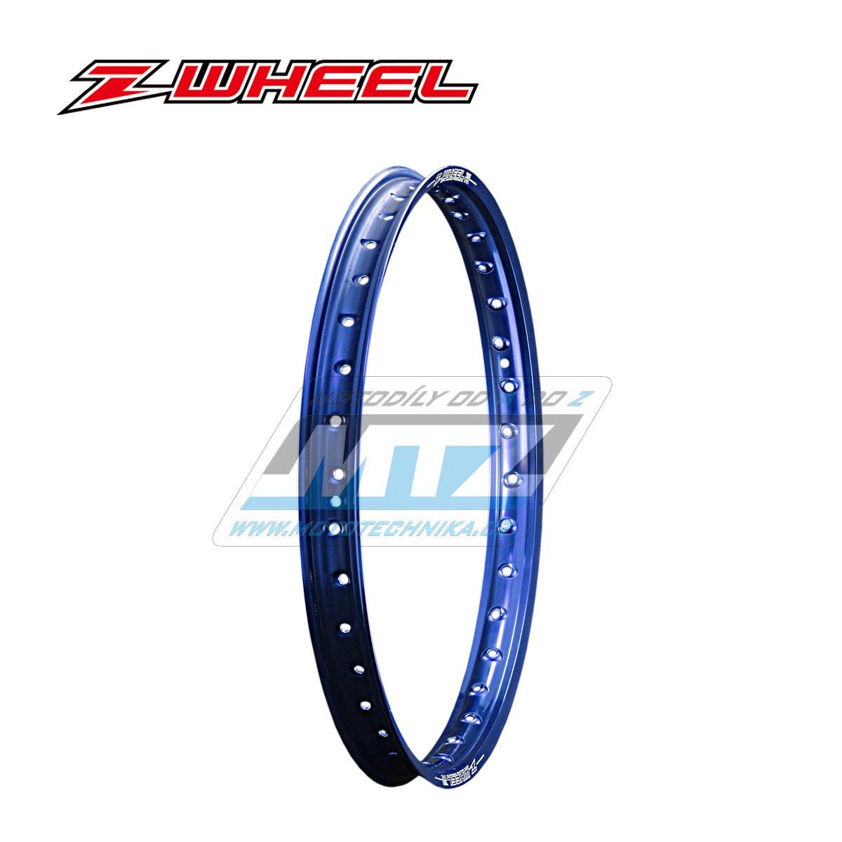 """Ráfek přední Zeta Z-WHEEL - rozměr 1,60x21"""" - 36H (předvrtaný 36otvorů) - modrý"""