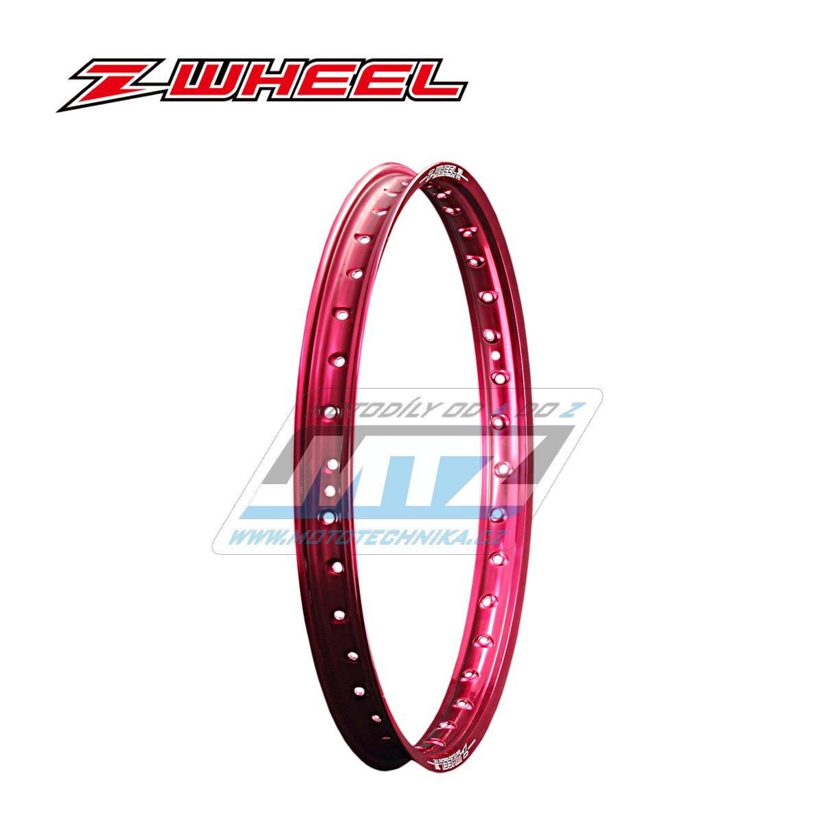 """Ráfek přední Zeta Z-WHEEL - rozměr 1,60x21"""" - 36H (předvrtaný 36otvorů) - červený"""
