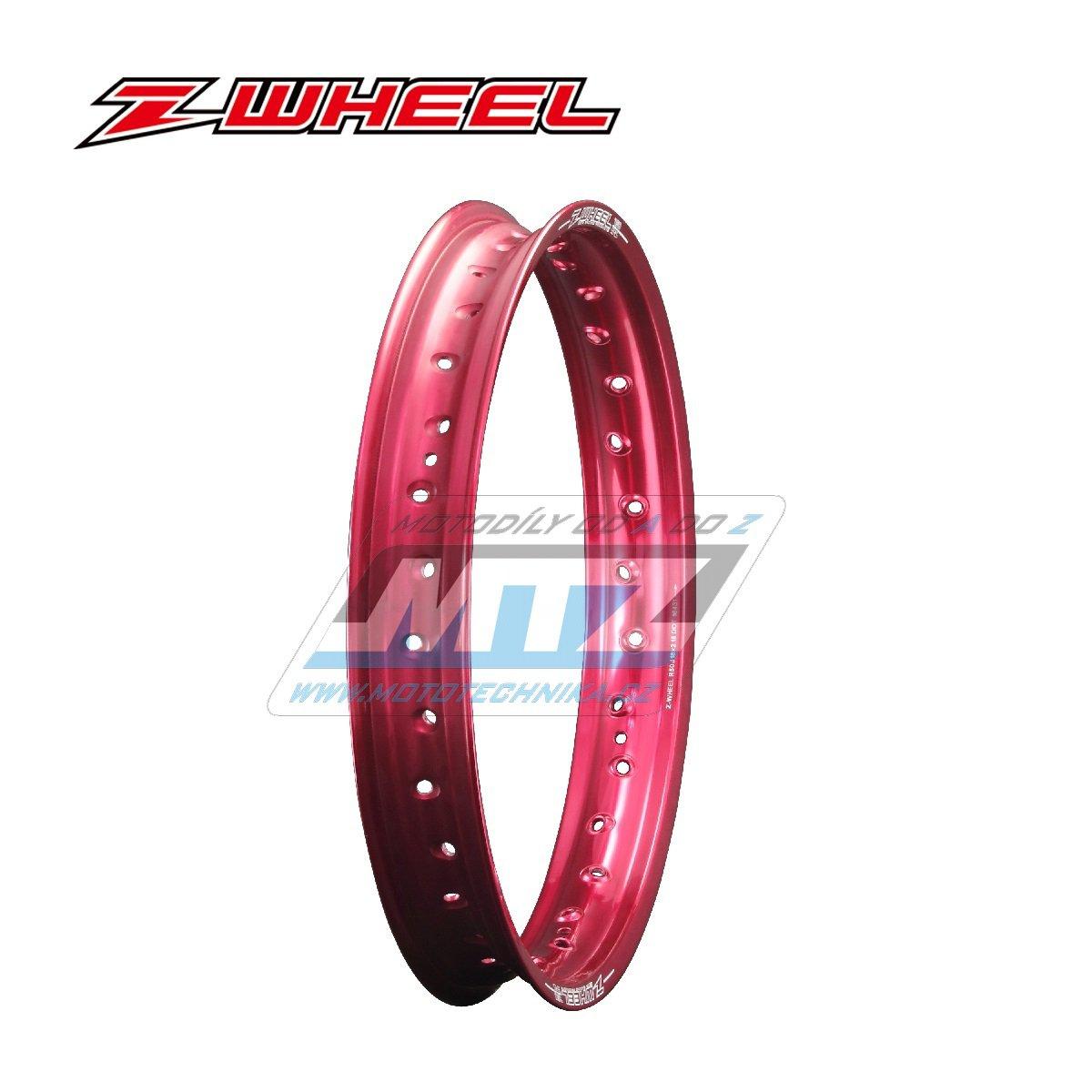"""Ráfek zadní ZETA Z-WHEEL - rozměr 2,15x19"""" - 32H (předvrtaný 32otvorů) - červený"""