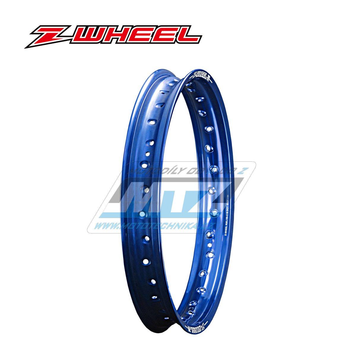 """Ráfek zadní Zeta Z-WHEEL - rozměr 2,15x19"""" - 36H (předvrtaný 36otvorů) - modrý"""