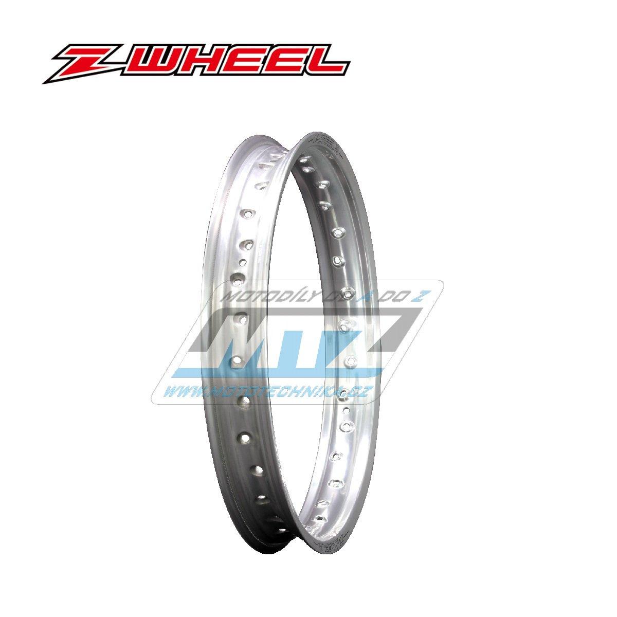 """Ráfek zadní Zeta Z-WHEEL - rozměr 2,15x19"""" - 36H (předvrtaný 36otvorů) - stříbrný"""